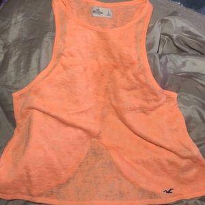 Orange Hollister sweater tank with a split size L